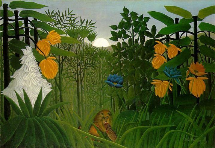 Il pasto del leone- Henri Rousseau