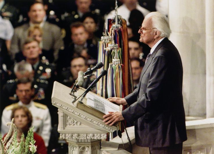 """""""We've seen so much that brings tears to our eyes and makes us all feel a sense of anger. But God can be trusted, even when life seems at its darkest."""" — Billy Graham  (Sept. 14, 2001)."""