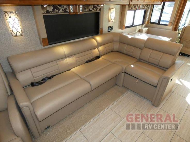 Brown Sugar Ultra-leather L-Shaped Sofa.  Walnut interior.  Malta Vinyl Floors.