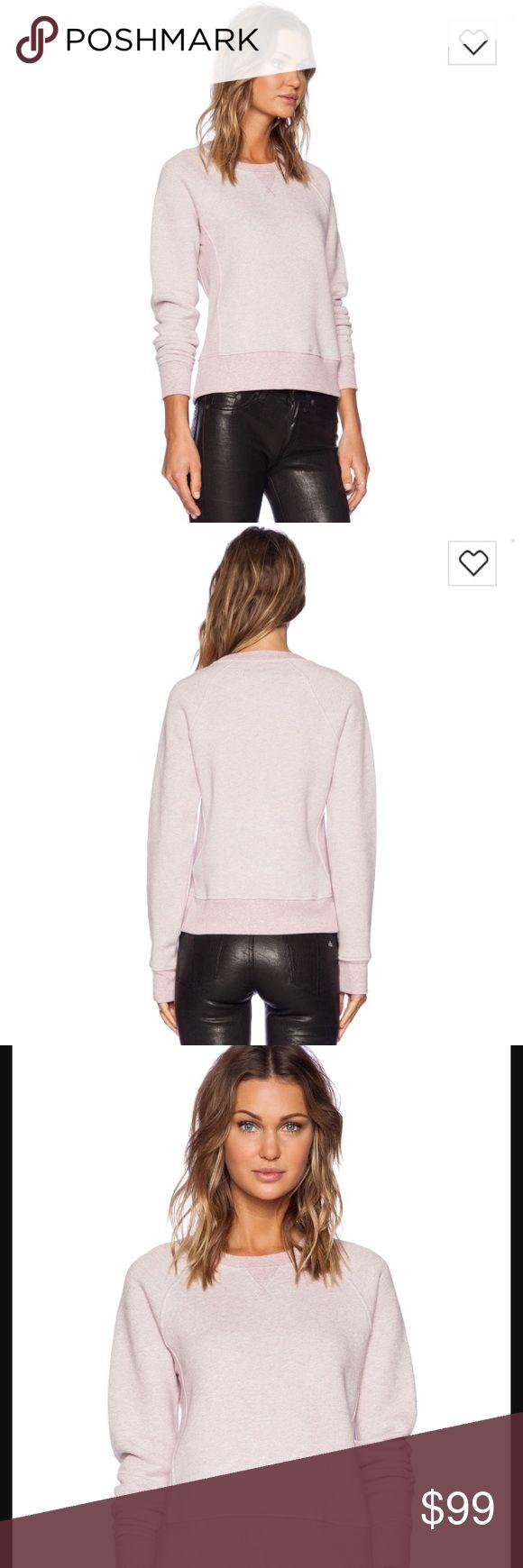 Rag & Bone Langford sweatshirt NWT Rag & Bone Langford sweatshirt in antique rose NWT 195$ retail amazing quality rag & bone Tops Sweatshirts & Hoodies
