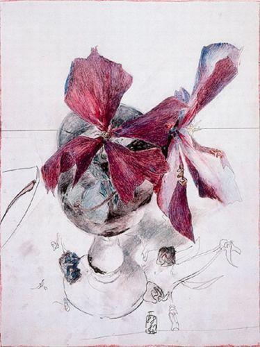 Violette Clematis, Horst Janssen.