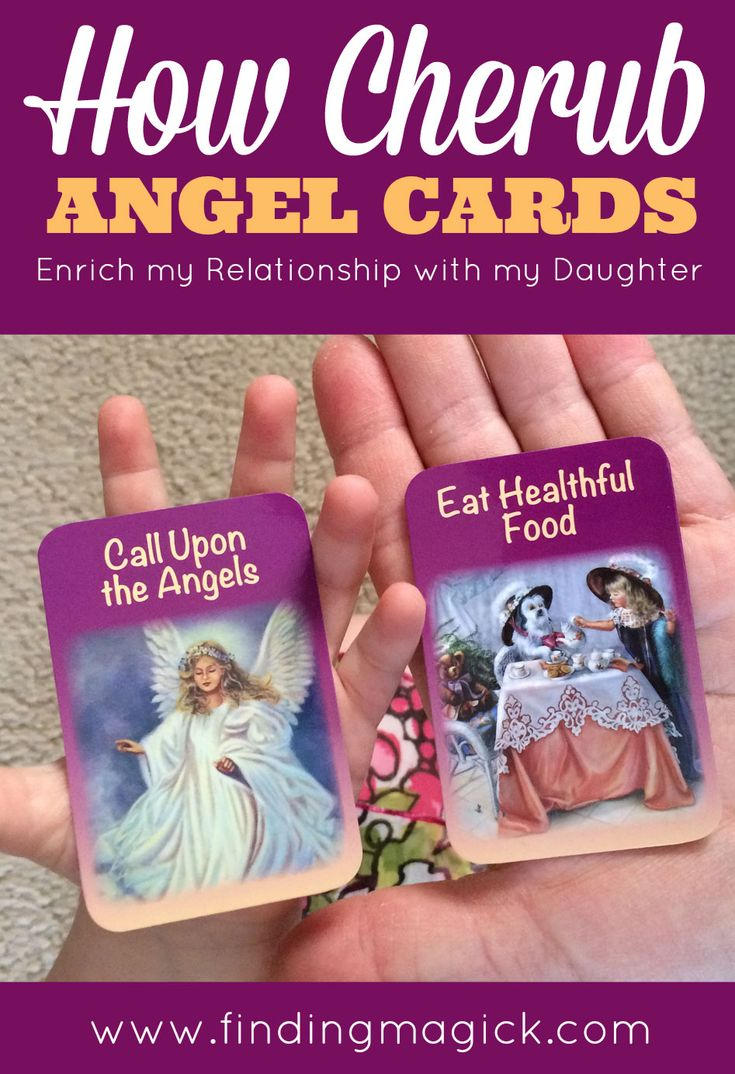 My daughter is fascinated with my oracle cards and tarot cards so I bought a deck just for her, the Cherub Angel Cards For Children. What I didn't expect was how these angel cards would enrich our relationship - FindingMagick.com