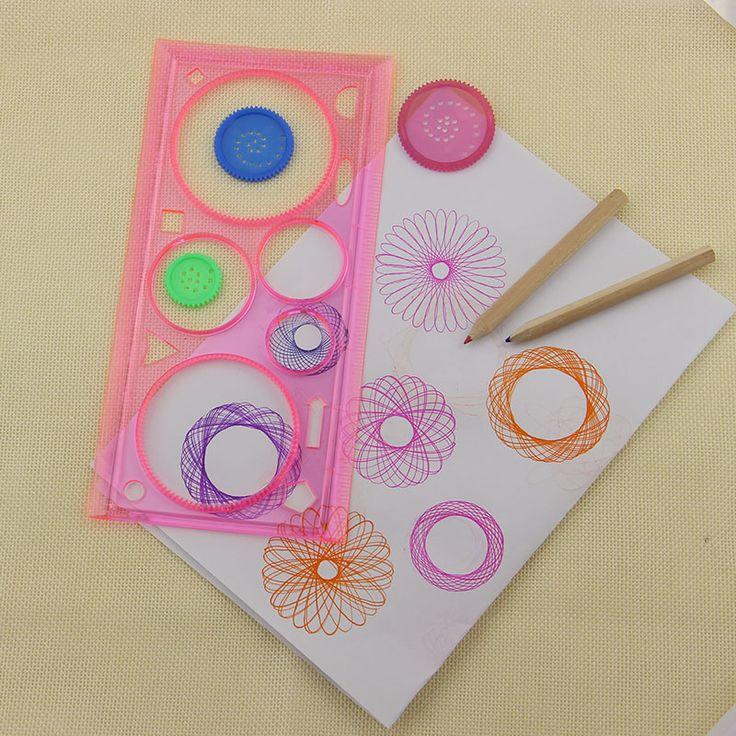 Spirograph geometrica Righello apprendimento Disegno Strumento di cancelleria per studente di disegno Set regalo creativo