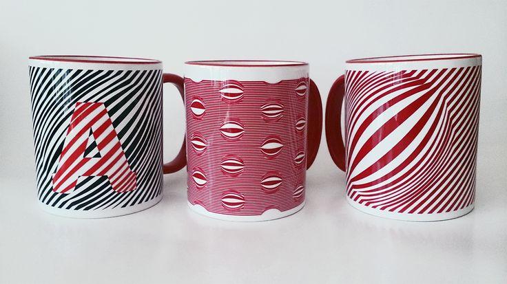 piros illúzió bögrék/red illusion mug www.dekorozmar.hu