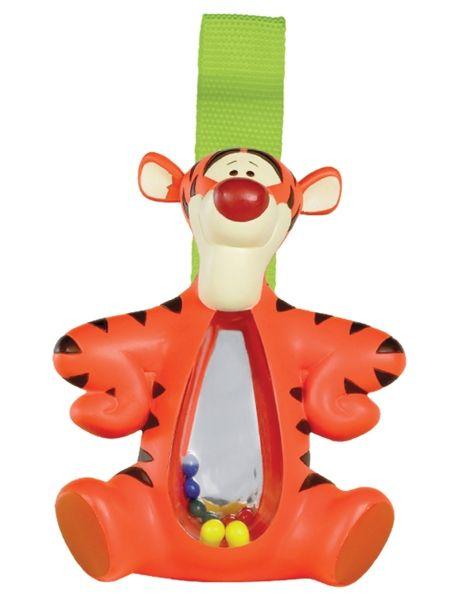 Leikkituokion ilahduttaja on hauskasti rapiseva Tiikeri-helistin ! Iloisen värikkään helistimen voi kiinnittää hihnalla esim. sängyn reunaan, vaunuihin tai turvaistuimeen. Helistimen korkeus on noin 10 cm. Ikäsuositus yli 6 kk.