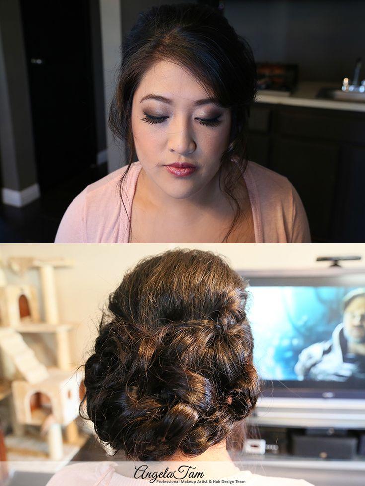 Los Angeles Beautiful Asian Bride Wedding Makeup Artist And Hair Stylist Angela Tam