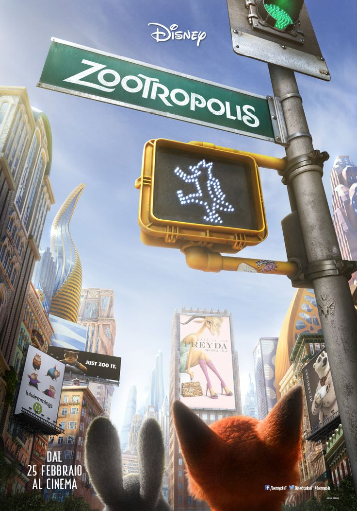 #Zootropolis film #Disney Diretto da Byron Howard e Rich Moore.