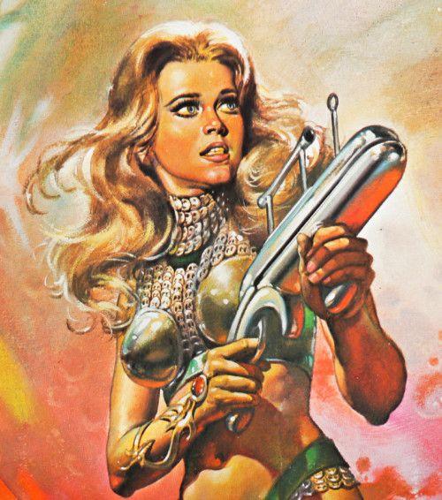 Barbarella Poster Detail By Boris Vallejo (1977