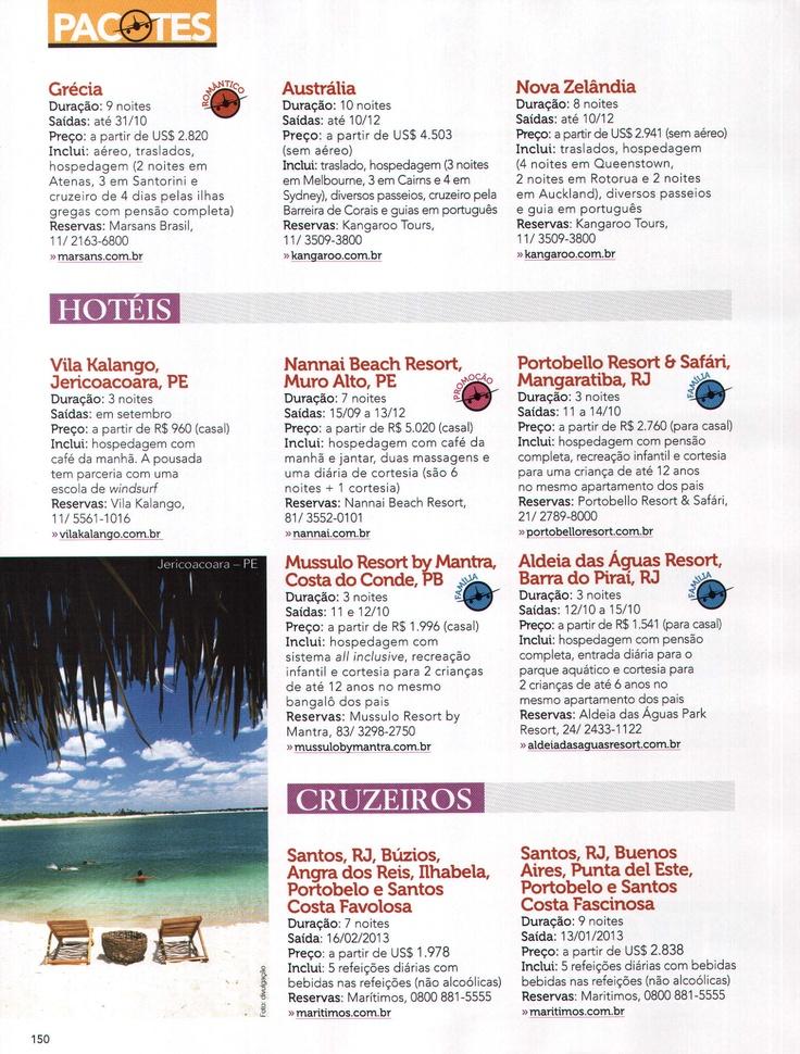 Veículo: Revista Viajar Pelo Mundo  Data: Agosto- 2012  Cliente: Vila Kalango