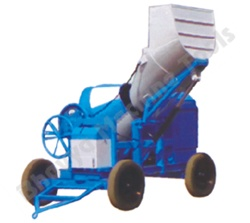 10/7 cft Concrete (Hydraulic Type Mixer) -   The batch capacity is 200 lts., 10 Cft unmixed /  7 Cft mixed. Power - A: 7.5 H.P. Air Cooled Diesel Engine Mounted B : 7.5 HP. 3 Ph. Electrical Motor. Houses - ISI Mark High Pressure House to Circulate the oil. Loading Hopper - Hydraulic Operated Heavy Duty Power patch. Chassis - Heavy Duty Robust made form steel sections. Handling - 4 Nos. Pneumatic Tyre with Roller Bearing With Excel Shaft.