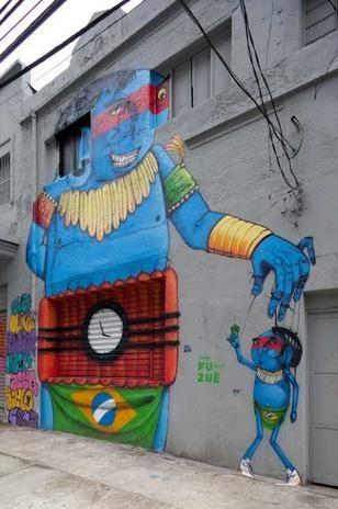 """Arts: Street Art - Crânio """"Untituled"""" ( Source: Google mapeia arte de rua de São Paulo e reúne mais de 100 obras - Terra Brasil)"""