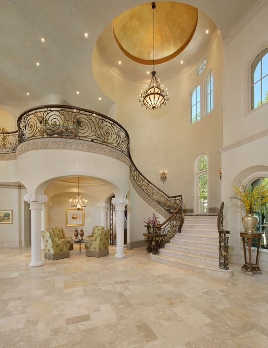 Dome Home Design Ideas: Column Entrance Foyer With Balcony Million Dollar Home