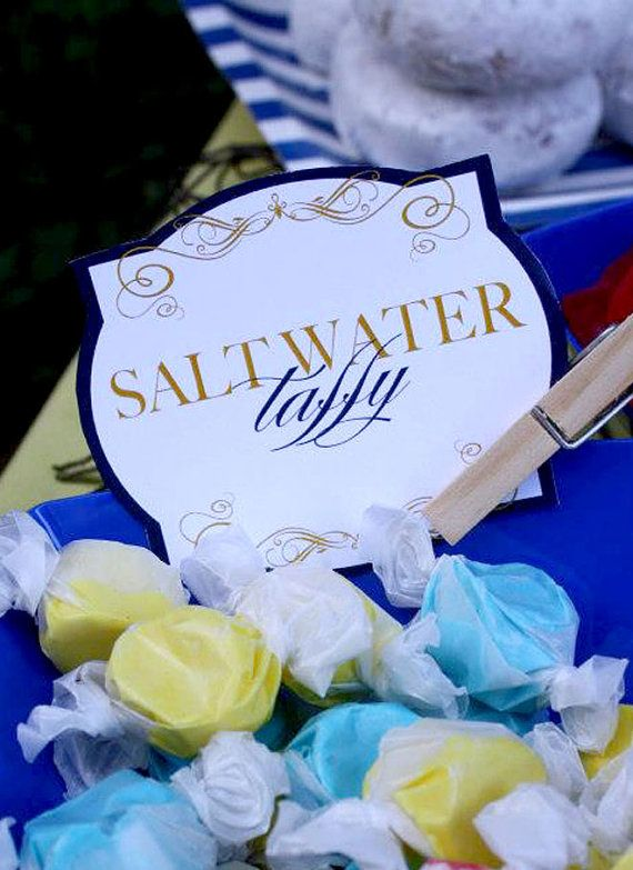 must have salt water taffy MUST Nautical Baby Shower PRINTABLE Party Food Labels by by lovetheday, $8.00