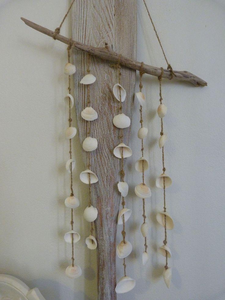 seashell driftwood mobile. $25.00, via Etsy.