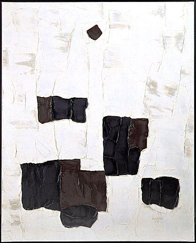 Paul-Émile Borduas  Saint-Hilaire 1905 - Paris 1960  L'étoile noire  1957  Huile sur toile  162,5 x 129,5 cm  Don de M. et Mme Gérard Lortie