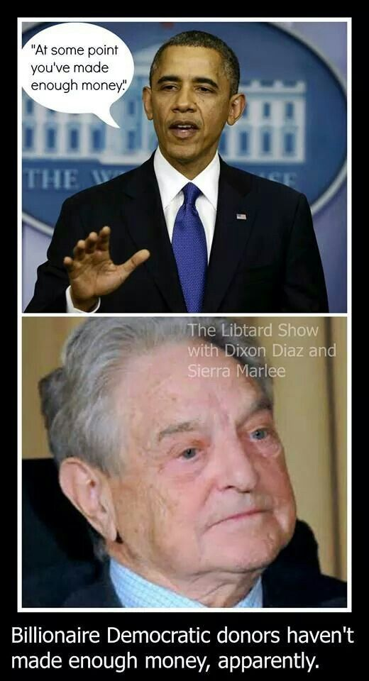 "George Soros is exempt.  If you're a ""political enemy"", you are not."
