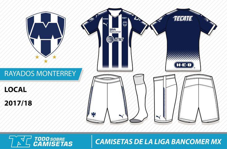 Camisetas de la Liga MX 2017-18 - Rayados Monterrey