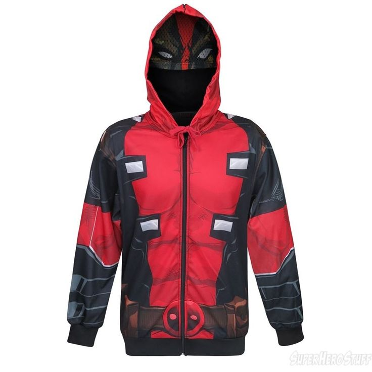 Images of Deadpool Sublimated Men's Hoodie with Mask