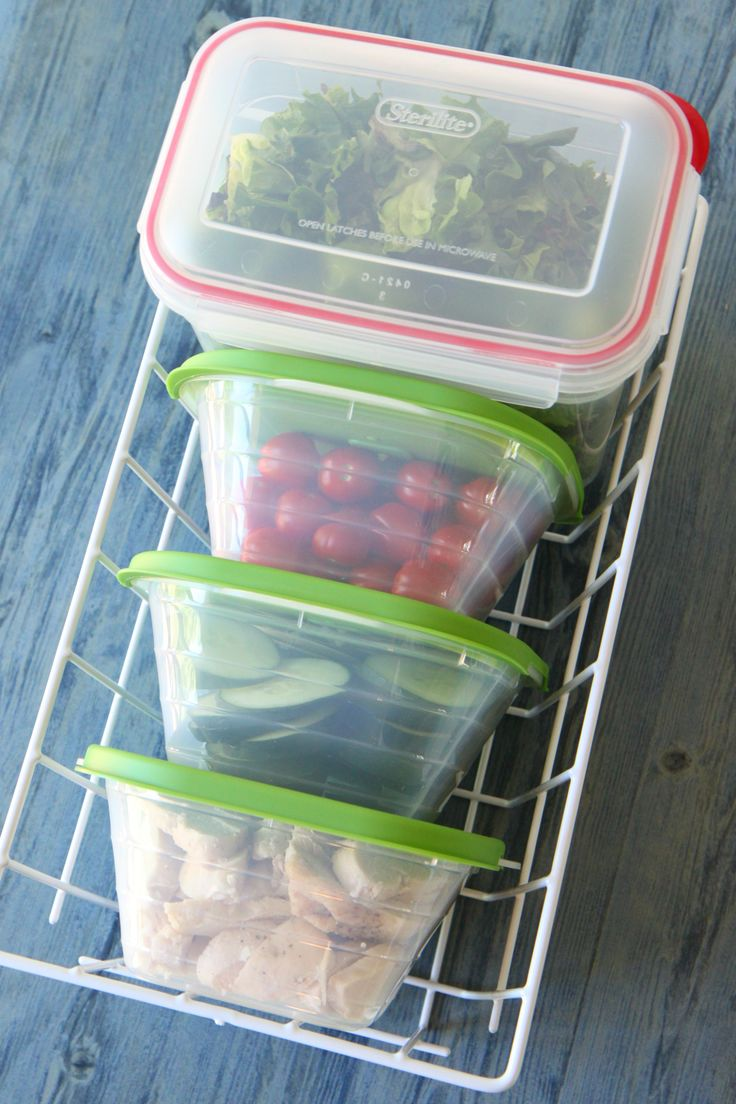 Salad Bar for Your Fridge...great ideas & a list of items to have on hand