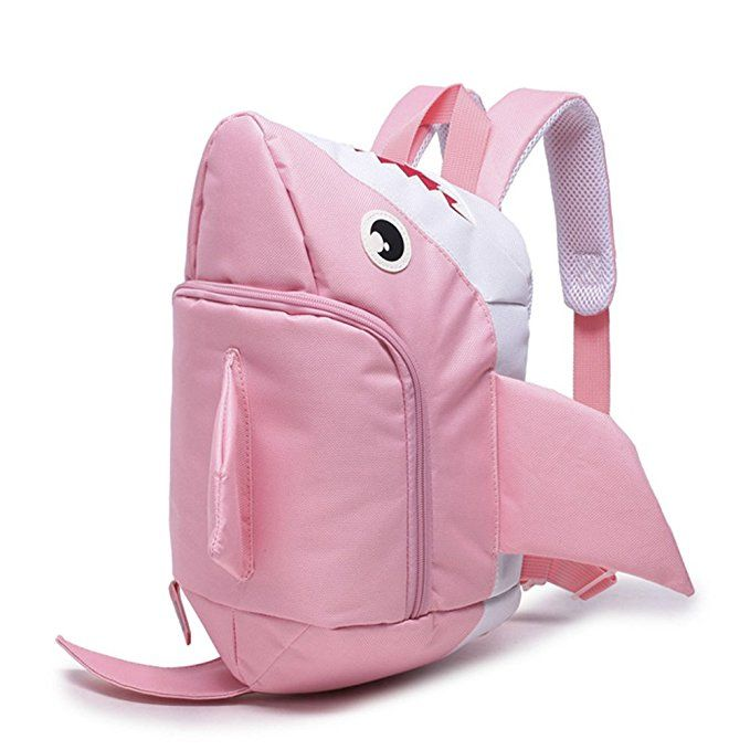 Amazon.com | Itopfox Lovely Cartoon Shark High Capacity Children School Bag Backpack | Kids' Backpacks