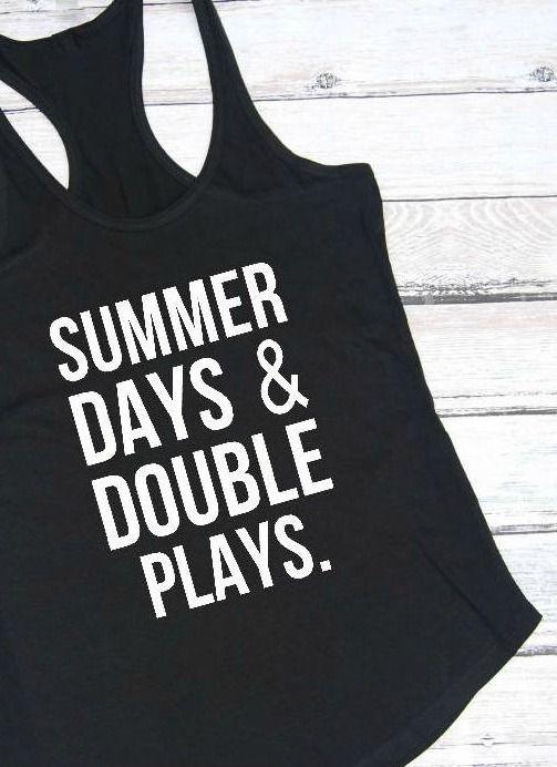 Summer days and double plays, Baseball mom, Softball mom, Softball shirt, Baseball shirt, Baseball, Softball life, Mom life, Mom tee. aff.