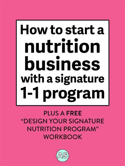 Are you a holistic nutritionist, health coach, or dietician who is ready to start your nutrition business? Woohoo! Click to read exactly how to start your nutrition business with a signature one-on-one program PLUS a free workbook that breaks down exactly what to include and how to price your program!