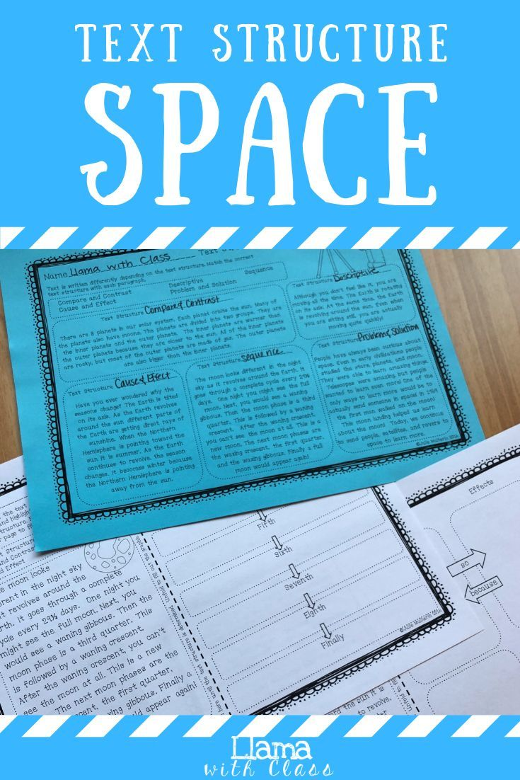 Space Text Structure Worksheets Text Structure Worksheets Text Structure Upper Elementary Science
