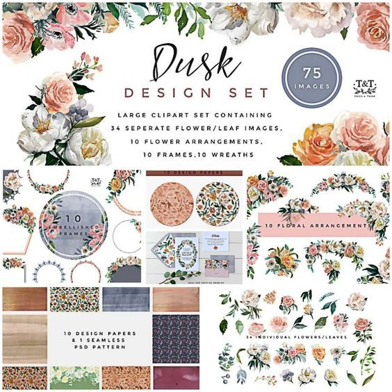 This collection will help you to create your own beautiful wedding card, having beautiful roses and dramatic white peonies in it, this collection surely will add a delicate and sweet statement to your project. You can use this template to celebrate your special wedding days