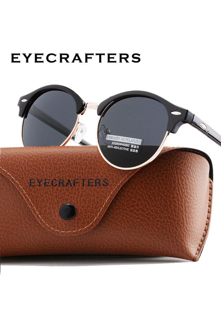 a36e54f69 New Polarized Round Sunglasses Mens Womens Brand Designer Club Round  Glasses Classic Sun glasses Driving Semi Rimless Eyewear On sunglasses women  ...