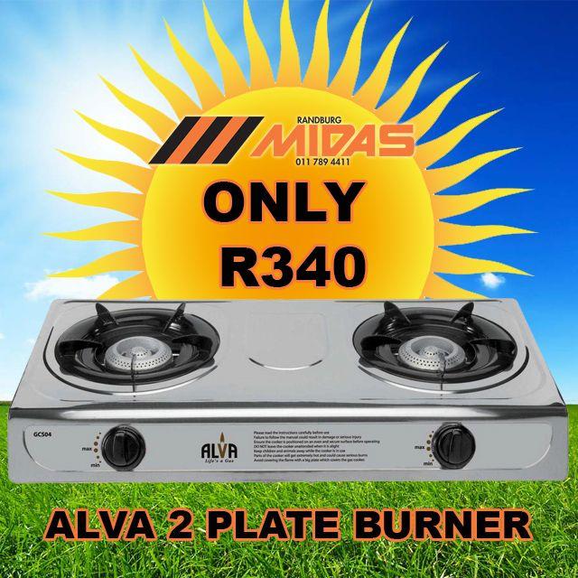 #Randburg #MIDAS #SummerHoliday #Promo: Alva 2 Plate Burner ONLY R340 http://bit.ly/1TD6iPX