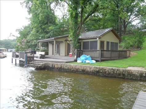 Lake Hamilton Hot Springs Arkansas Vacation Rentals | Romantic Over Water Cottage W/ Sleeping Porch. 7th Night Free!