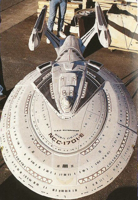 The last filming model constructed of a starship before all CG.