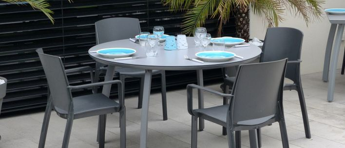 Salon De Jardin Dinatoire Sunset Grosfillex Table De Jardin