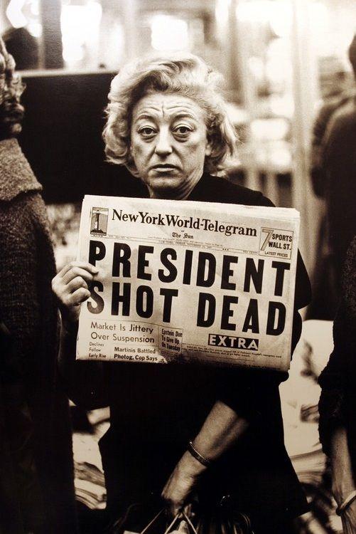 President Kennedy shot dead in Dallas.  New York, November 22, 1963.