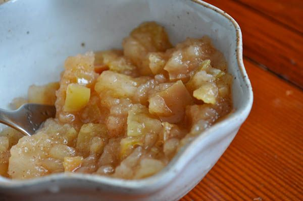 Applesauce- quick easy and good!... Next time I will peel the apples ...