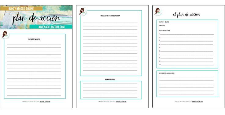 Cómo diseñar un plan de acción paso a paso para que tu blog salga disparado como un cohete este año. Incluye planner imprimible GRATIS!