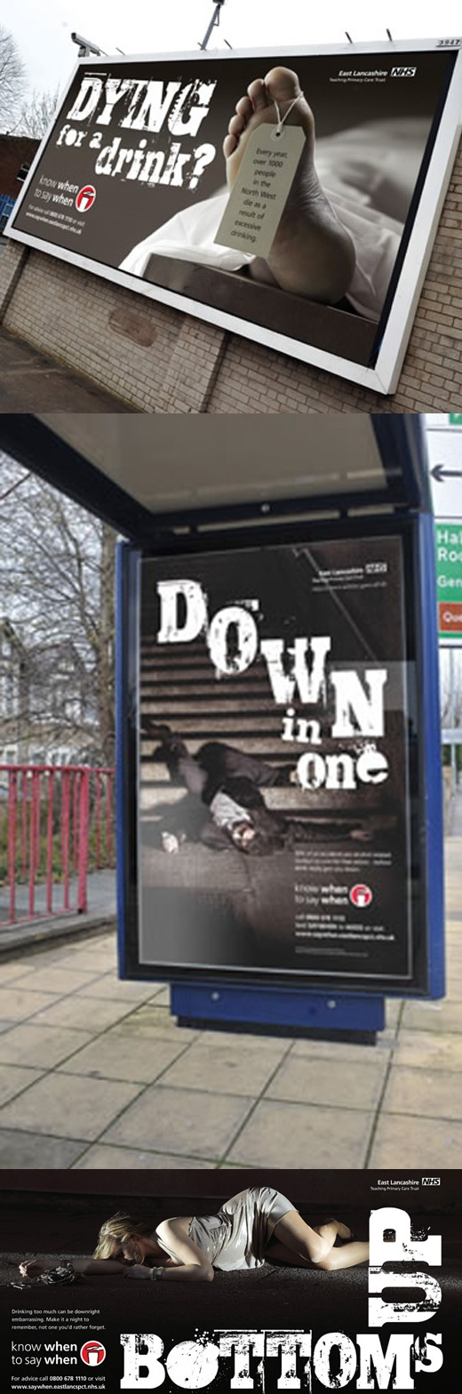 nhs alcohol awareness campaign. design and art direction (for bmt)