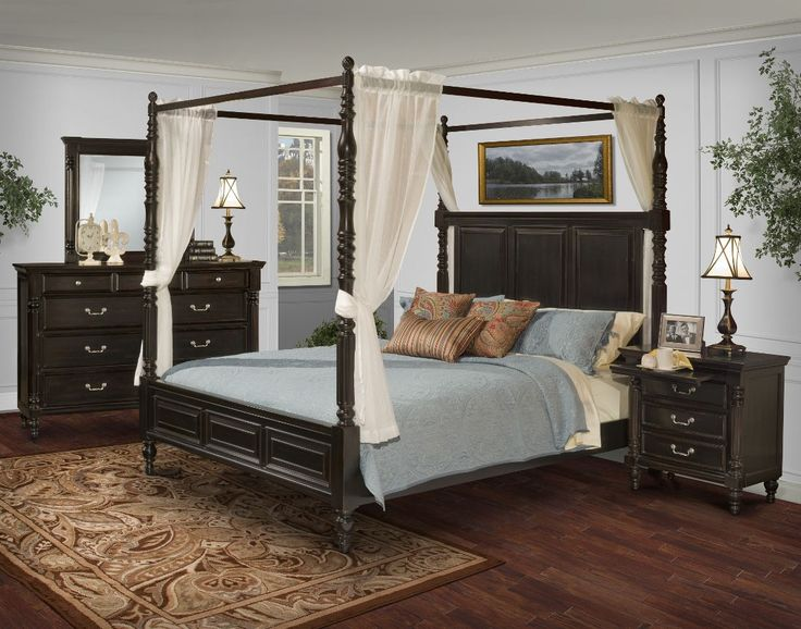 New Classic Martinique Canopy Bedroom Set in Rubbed Black. 27 best Canopy Bedrooms images on Pinterest   Master bedrooms  3 4