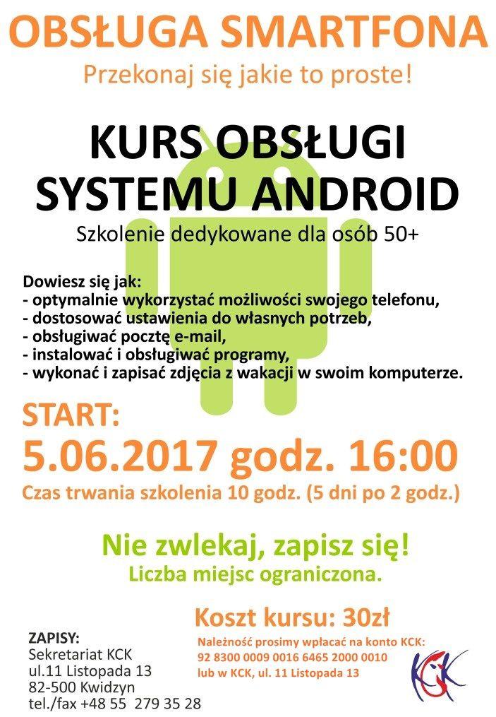 Kurs obsługi systemu Android, 5.06.2017 r.