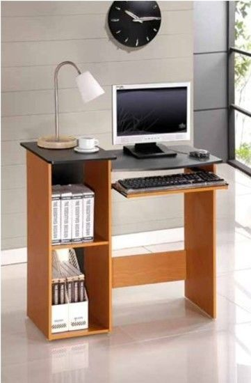 Kids Cherry Small Computer Desk Compact Space Saver Home New Workstation Table