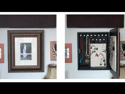 How to make a wall mounted jewelry organizer - All