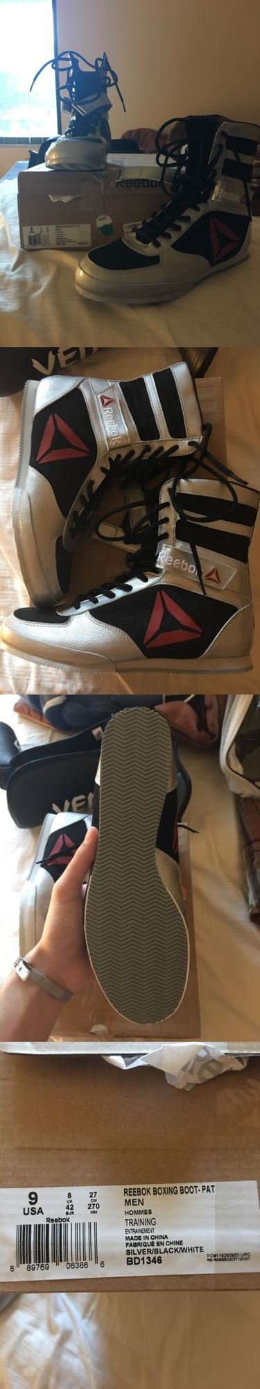 Shoes and Footwear 73989: Reebok Boxing Boots Sz. 9 (Silver Black Red) -> BUY IT NOW ONLY: $135 on eBay!