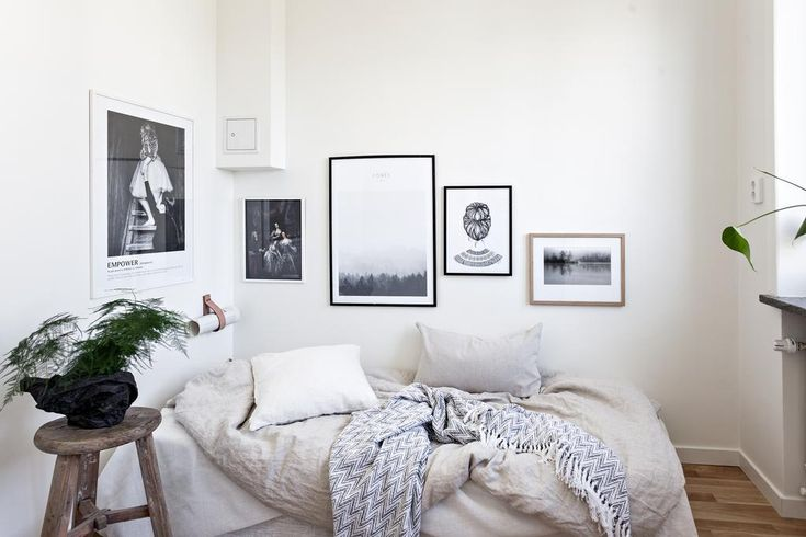 Small bedroom with awesome gallery wall. Looking for unique and beautiful art photo prints to create your own art wall? Visit bx3foto.etsy.com