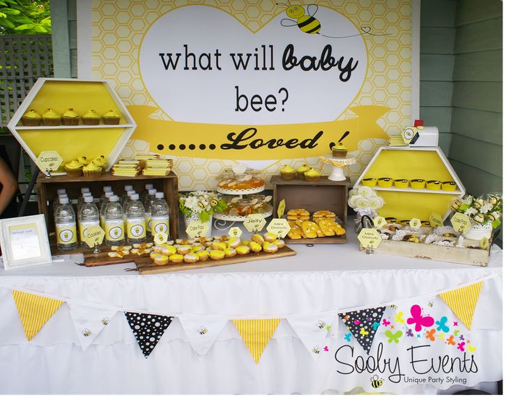 Bees Baby Shower Party Ideas