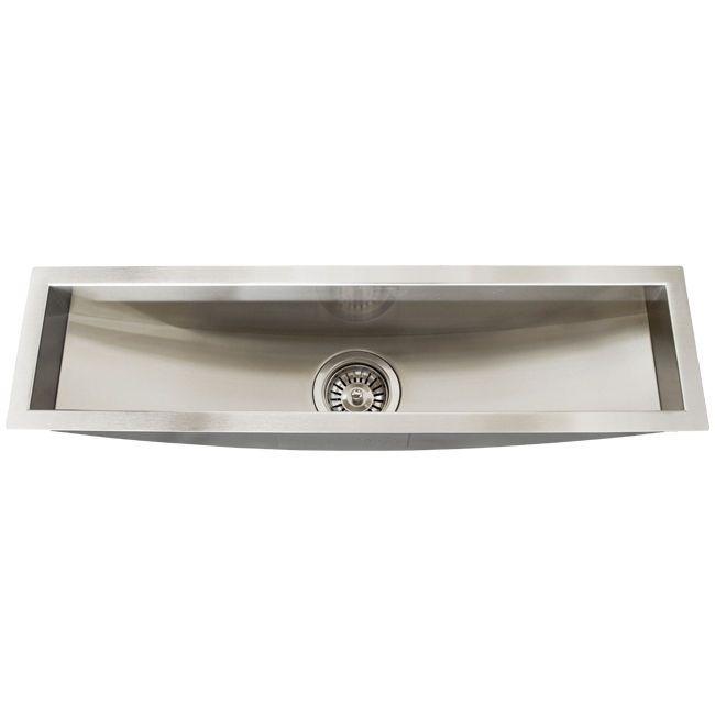 Best Stainless Steel Sinks Gauge : TR3100 Stainless Steel 16 Gauge Undermount Kitchen Bar Trough Sink ...