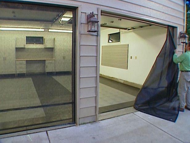 How to install a garage door screen - Single car garage door screen ...