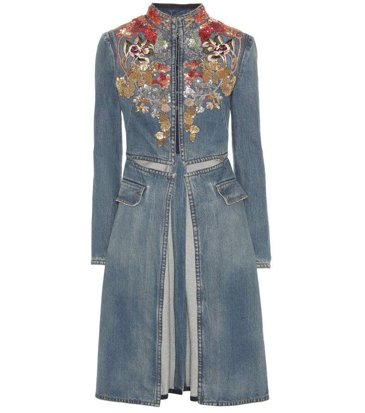 mytheresa.com - Embellished denim coat - Luxury Fashion for Women / Designer clothing, shoes, bags