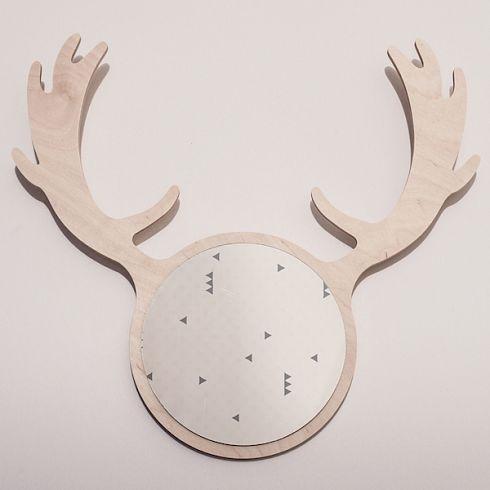 DEER FRIEND MIRROR and hanger nordic design fallow-deer interior accessory by KATLA