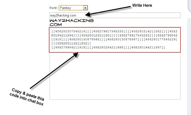 ANIMATED TEXT GENERATOR FOR FACEBOOK CHAT - WwW.Way2Hacking.Com