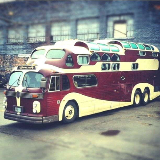 Vintage 1955 Combo Gmc 1949 Aerotech Bus Converted Custom